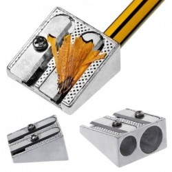 Metal pencil sharpener - with double holes