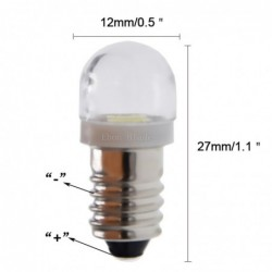 E10 - LED-Lampe - 3V / 6V - Xenonweiß - 2 Stück