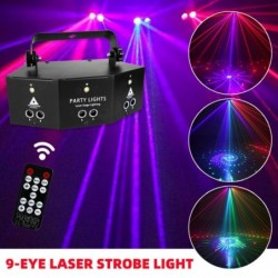 Disco - laser light - remote control - led - entertainment - home decor