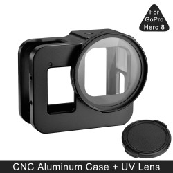 GoPro Hero 8 protective case - aluminum frame - with UV lens filter