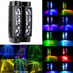 Spider beam stage light - portable - moving head - LED - RGBW - 8x 10W