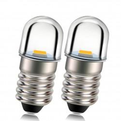 E10 - LED bulb - 3V / 4.5V / 6V / 12V - 2 pieces