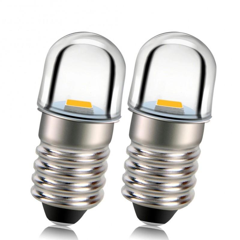 E10 - LED-Lampe - 3V / 4,5V / 6V / 12V - 2 Stück