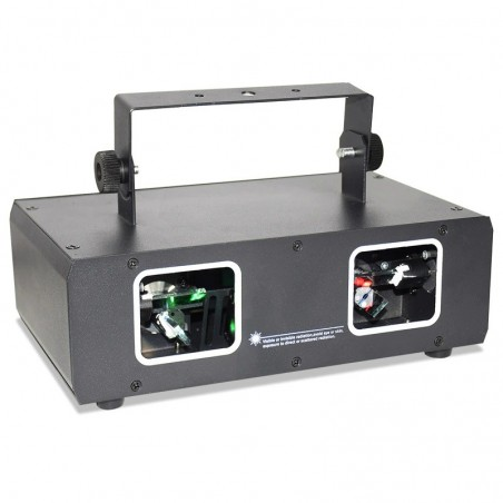 Disco / stage laser light - 2 lens projector - RGB