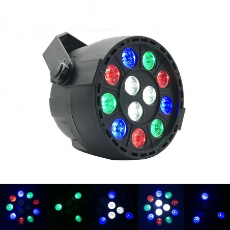 Strobe stage light - RGB - LED - with remote / sound control - for party / disco