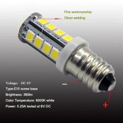 E10 - 1447 - LED-Lampe - 6V / 12V - 2835SMD - 2 Stück