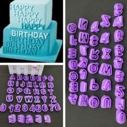 Alphabet / numbers / symbols - baking mold - 40 pieces