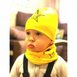 Cotton hat & scarf - set for girls / boys - stars / snowflakes / swans