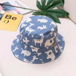 Summer bucket hat - with adjustable strings - for girls / boys - animal print