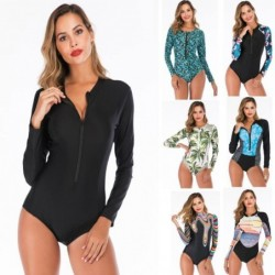One piece swimsuit - long sleeve - with zipper