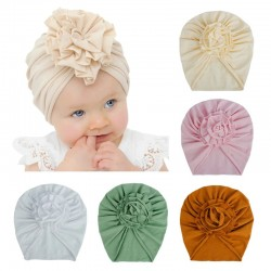 Thin hat / turban with flower knot - for girls
