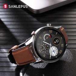 SANLEPUS - Smart Watch - Herzfrequenz - Telefonate - Training - wasserdicht - Bluetooth - Android / IOS