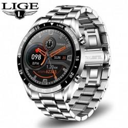 LIGE - Smart Watch - Bluetooth - Herzfrequenzmessung - Musiksteuerung - wasserdicht