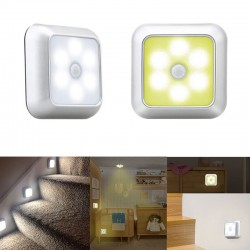 LED lamp - with PIR motion sensor - for wall / furniture / stairs - 2 pieces