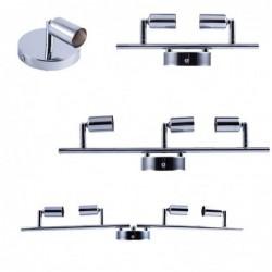 Ceiling / wall lamp - rotatable - 360 degree adjustable - GU10 base - stainless steel