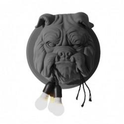Nordischer Stil - Bulldoggenkopf mit Glühbirnen - LED-Wandleuchte