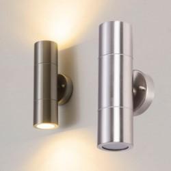 LED wall light - stainless steel lamp - up / down lightningLED-Wandleuchte - Edelstahllampe - Auf-/Ab-Beleuchtung