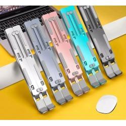 Laptop-/Tabletständer aus Aluminium - verstellbare Halterung - rutschfest