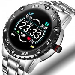 Smart Watch - elektronische Stahluhr - LED - digital - wasserdicht - Herzfrequenz / Blutdruck