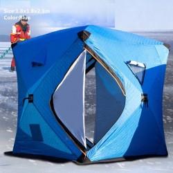 Winterwarmes Zelt - zum Eisfischen / Camping - winddicht - wasserdicht - schneesicher - viel Platz
