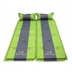 Einzel-Campingmatratze - selbstaufblasend - Isomatte mit Kissen - wasserdicht