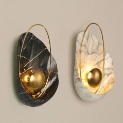 Moderne Kunstharz-Wandleuchte - LED - Muschelform