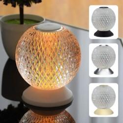 Italienische Nachtlampe - runde Kristallkugel - USB - Berührungssensor