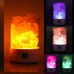 Kristallsalzlampe - negatives Ionenlicht - USB
