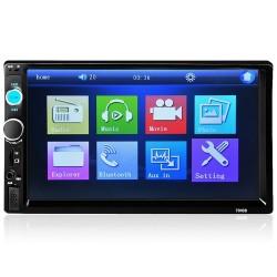 Bluetooth-Autoradio - DIN 2 - 7'' Zoll LCD-Touchscreen - MP3-MP5-Player - USB - MirrorLink