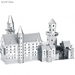 3D Neuschwanstein metal puzzle construction kit