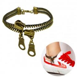 Retro Double-deck Zipper Women's Anklet
