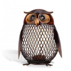 Owl Shaped Metal Coin Savings Box Craft