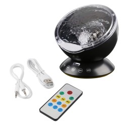Ocean waves - starry sky - USB LED night light - projector