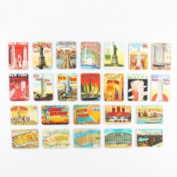 New York themes - fridge magnets - 24 pieces