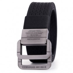 Double buckle - men's canvas belt