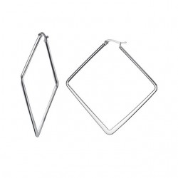 Silver - big geometric earrings