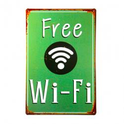Vintage metal sign poster Free Wifi