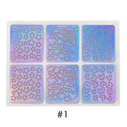 Hollow laser nail art stickers set