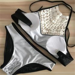 Lace bikini set with push up
