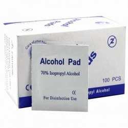 Alcohol swabs pads - antiseptic wipes 100 pieces