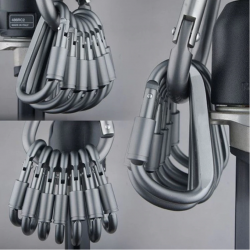 Aluminum carabiner - D type quick hook 6 pcs