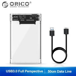Orico 2.5 inch transparent USB 3 Hard Drive enclosure