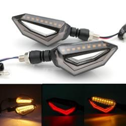12 LED - universal fit motorcycle turn signal lights for Harley Cruiser Honda Kawasaki BMW Yamaha 2 pcs