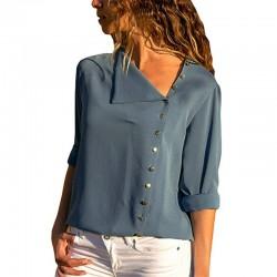 Elegant chiffon blouse with long sleeves