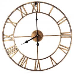 Iron decorative wall clock with roman numerals