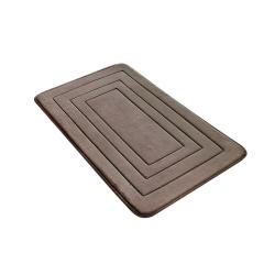 Non slip bathroom mat with memory foam