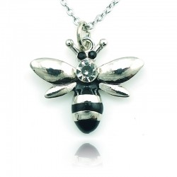 Crystal bee - necklace