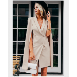 Vintage cloak blazer - sleeveless dress