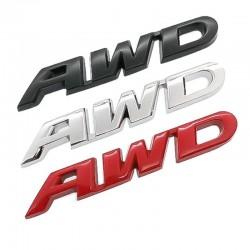 3D AWD - car sticker - chrome
