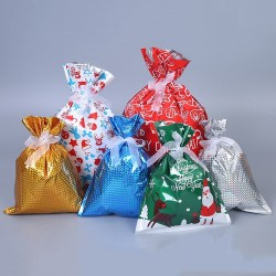 Christmas gift bags with drawstrings 32 * 24 cm 50 pieces